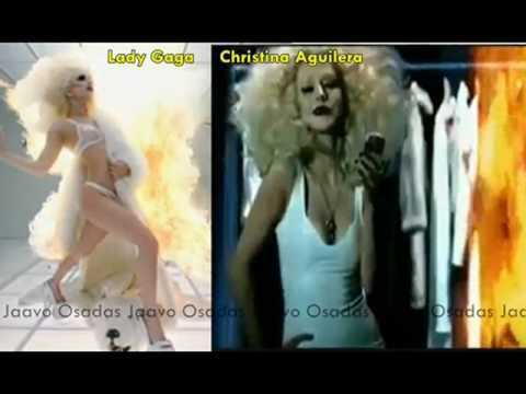 Lady Gaga vs Christina Aguilera Quien Copio a Quien (HD)