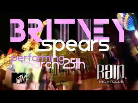 Britney Spears RAIN Night Club VEGAS Presentacion en Vivo - Bscomve