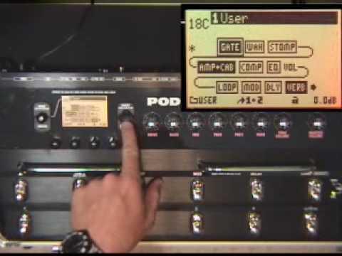 POD X3-Live Metallica Video Demo by Glenn Delaune