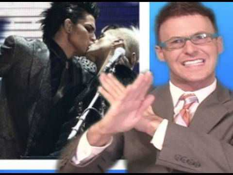 Adam Lambert Kisses A Boy & Jennifer Lopez FALLS!!!! - American Music Awards 2009