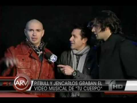 Jencarlos Canela y Pitbull graban el video musical de Tu Cuerpo (Al Rojo Vivo)