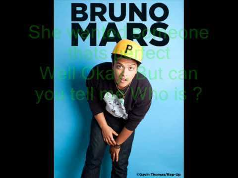 Bruno Mars - who is (with lyrics)